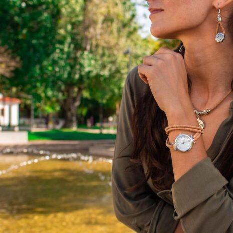 Dame armbåndsur kork vegansk2