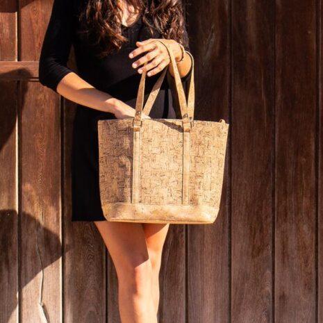 håndtaske kork vegansk korklæder dame