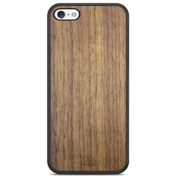 Mobilcover med valnøddetræ