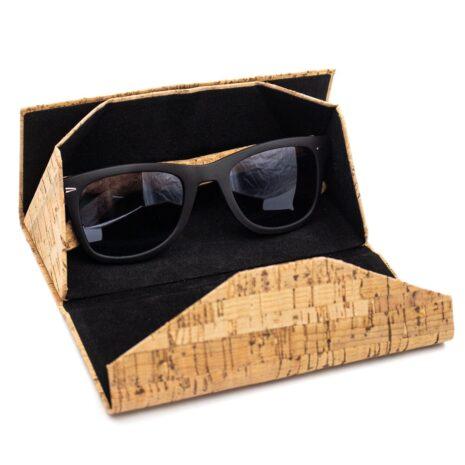 brilleetui magnetluk sammenfoldeligt vegansk wooodlook
