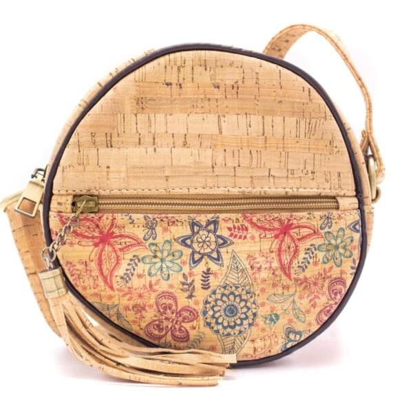 Rund håndtaske med kvast