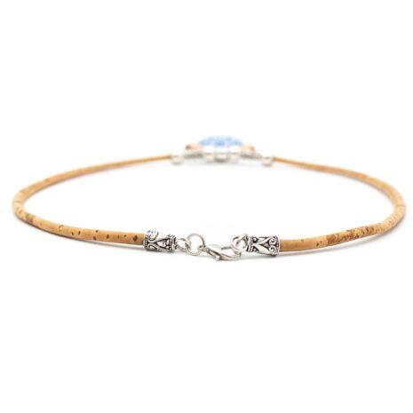 halskæde unik blå pendant træ (3)