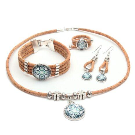 smykkesæt øreringer armbånd halskæde portugal (3)