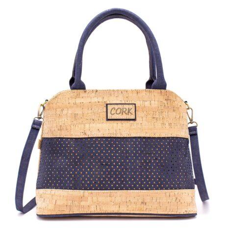 Håndtaske korklæder portigal kork vegansk navy blue (3)