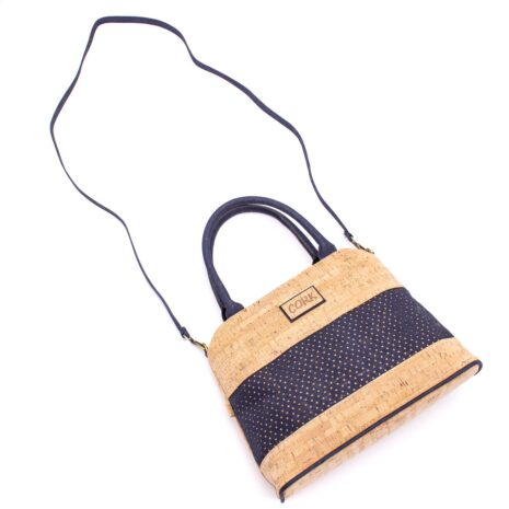 Håndtaske korklæder portigal kork vegansk navy blue (4)