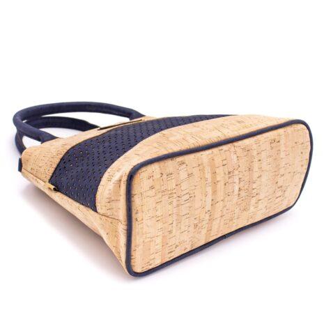 Håndtaske korklæder portigal kork vegansk navy blue (5)