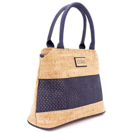 Håndtaske korklæder portigal kork vegansk navy blue (6)