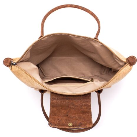 Håndtaske i korklæder