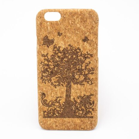 Iphone 7 & 8 cover i kork med sommerfugle
