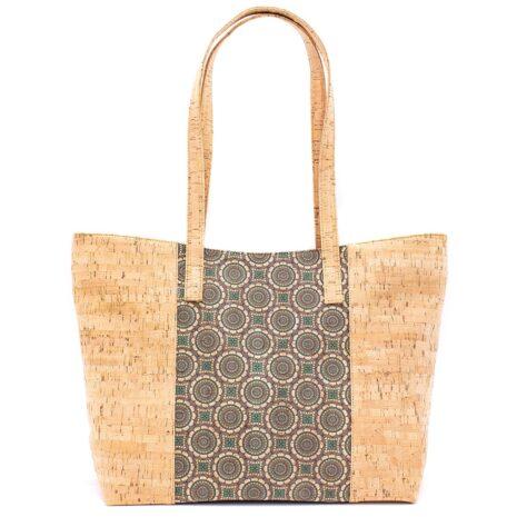 Stor håndtaske lavet af korklæder
