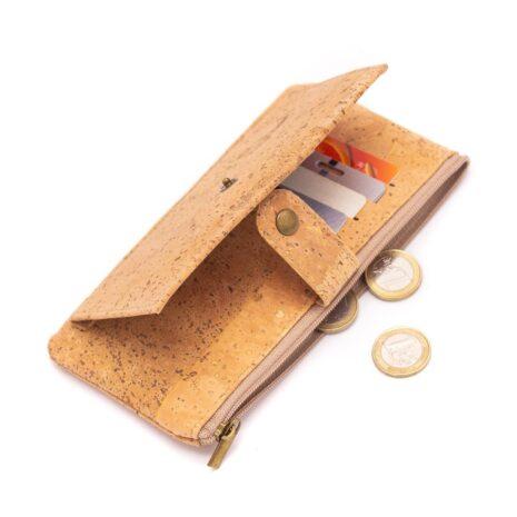 Vegansk korkpung fra portugal med penge i BAG-2039